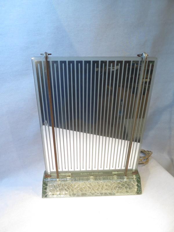 saint gobain ancien radiateur lampe miroir chauffant en verre de style art deco ebay. Black Bedroom Furniture Sets. Home Design Ideas