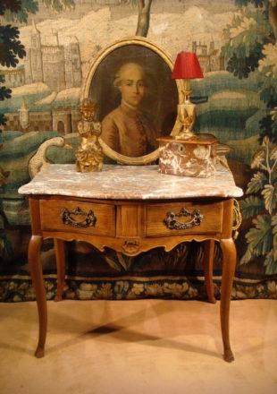 TABLE CONSOLE GALBEE EN BOIS NATUREL EPOQUE XVIII ème