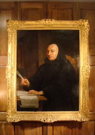 GRAND TABLEAU PORTRAIT DOM RENE LANEAU 1731