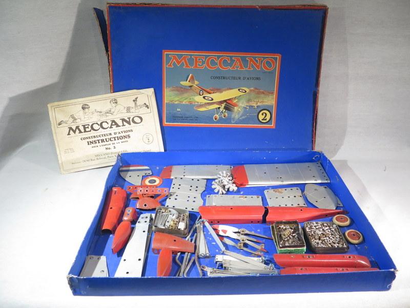meccano ancien jouet constructeur d 39 avion jeu tole maquette dans sa boite ebay. Black Bedroom Furniture Sets. Home Design Ideas