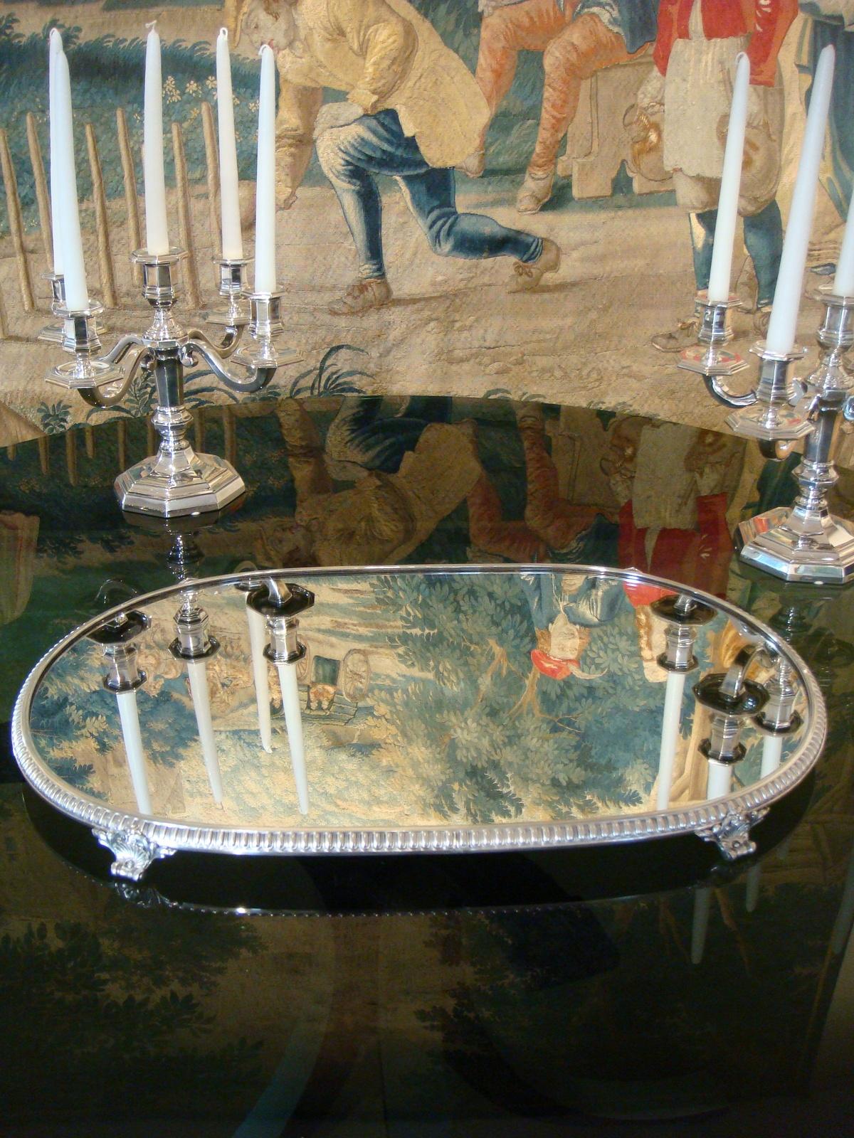 Centre De Table Ancien centre de table en bronze argente